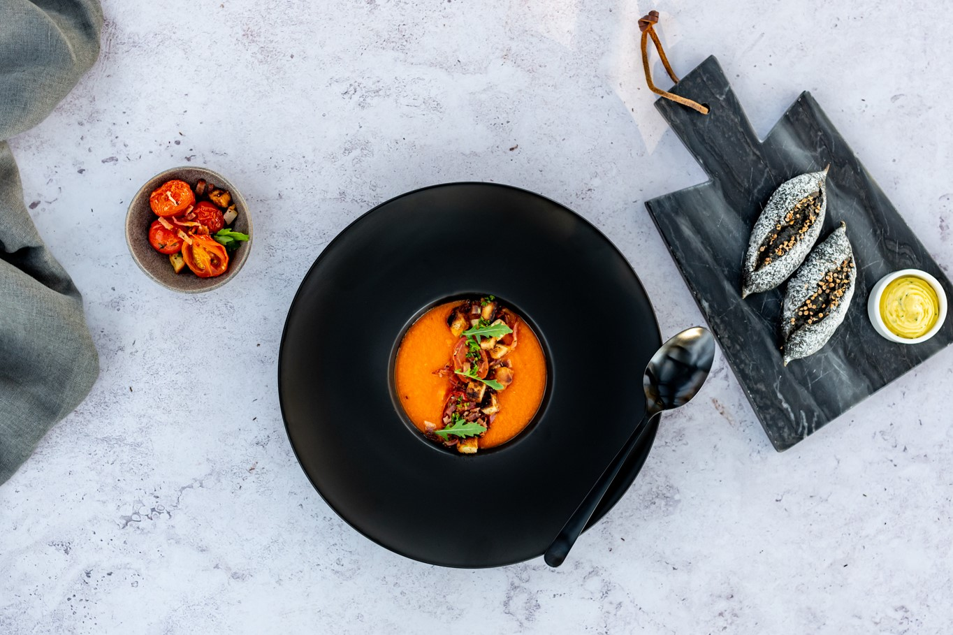 Roast Tomato & Red Bell Pepper Soup-1
